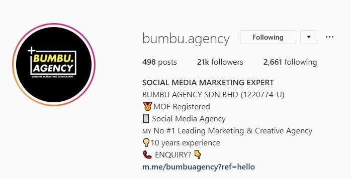 bio bumbu - pemasaran instagram