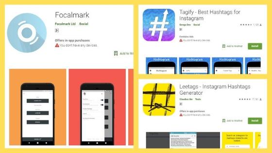 hashtag apps - pemasaran instagram