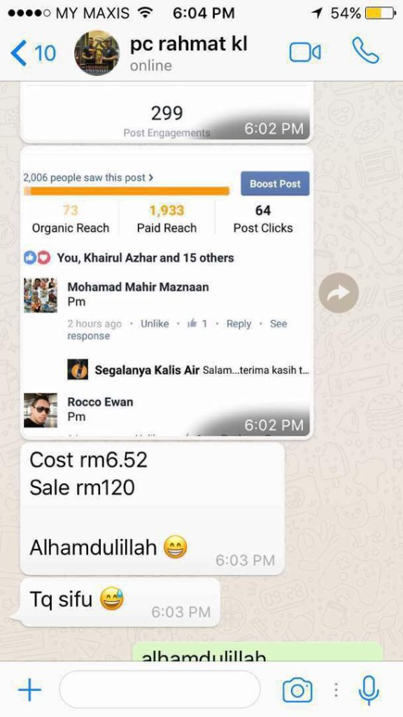 Kelas FB Ads Testimoni 12